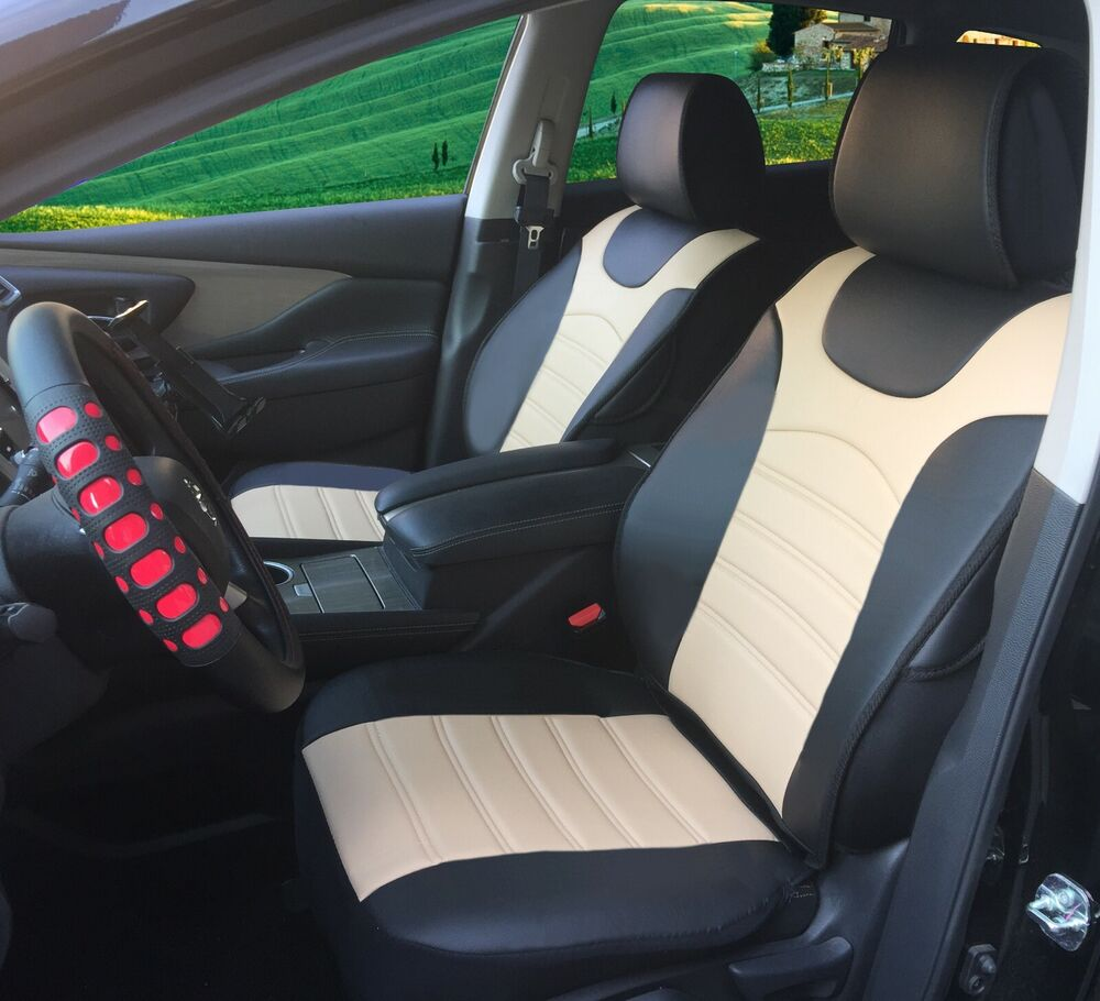car seat cover cushion bktan leather 2bucket auto seat protector for infiniti ebay. Black Bedroom Furniture Sets. Home Design Ideas