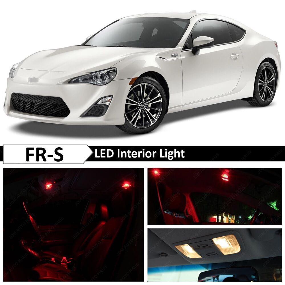 6x Red Interior Led Lights Package Fits 2013 2019 Scion Fr S Frs 86