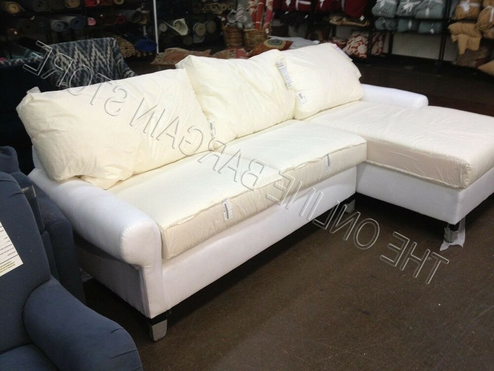 Pottery barn pb basic modular sofa couch sectional no slipcover ebay Loveseat slip cover