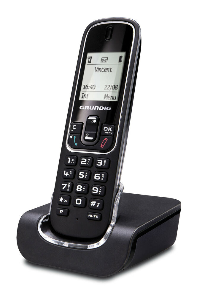 grundig d350 schnurlos telefon gro es display mit. Black Bedroom Furniture Sets. Home Design Ideas