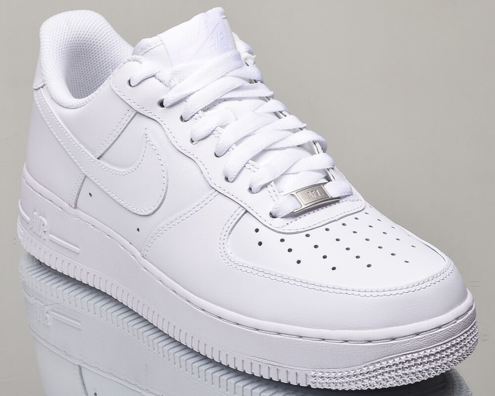 nike air force 1 07 low all white af1 mens lifestyle. Black Bedroom Furniture Sets. Home Design Ideas
