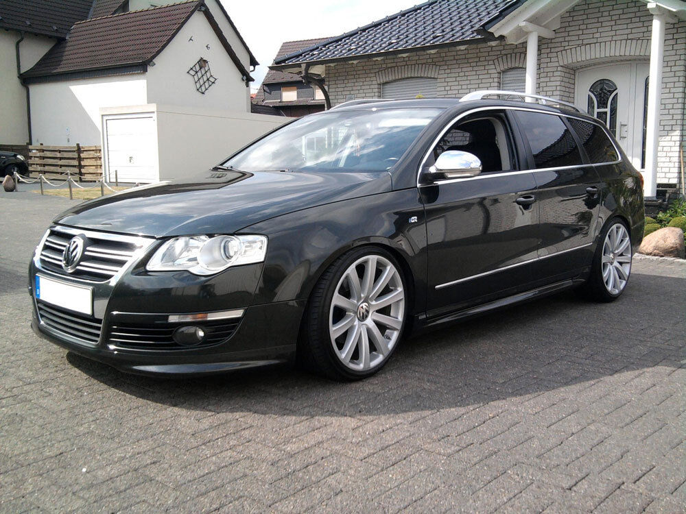 vw passat b6 3c 05 10 front bumper spoiler r line lip. Black Bedroom Furniture Sets. Home Design Ideas