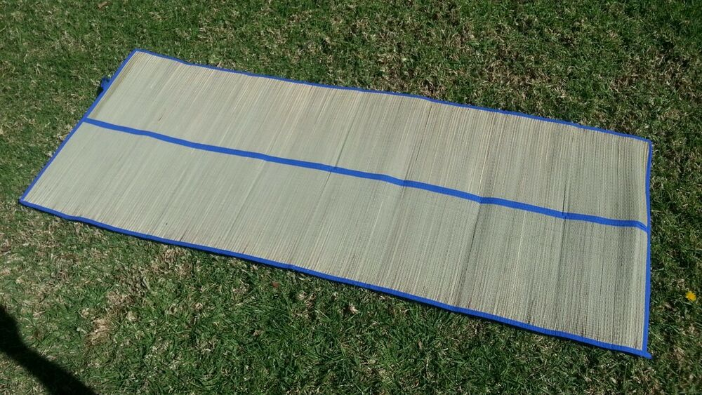 Bamboo Straw Mat Yoga Colored Trim Beach Home Floor Mat