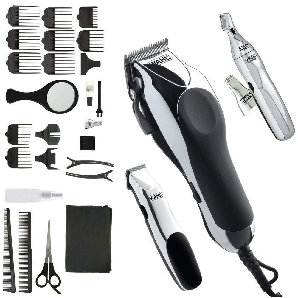 professional haircut kit wahl professional hair cut trimmer kit clippers haircut 3771