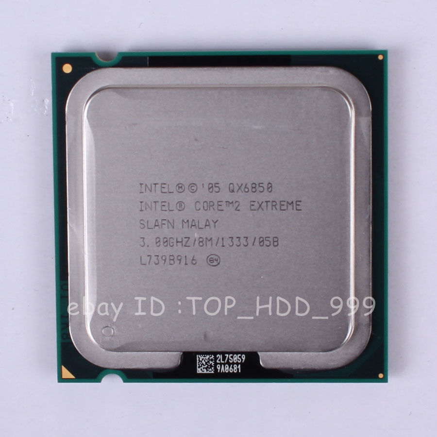 Intel Core 2 Extreme QX6850 3GHz 3.0GHz 4M//1333 SLAFN Socket 775//T CPU Processor