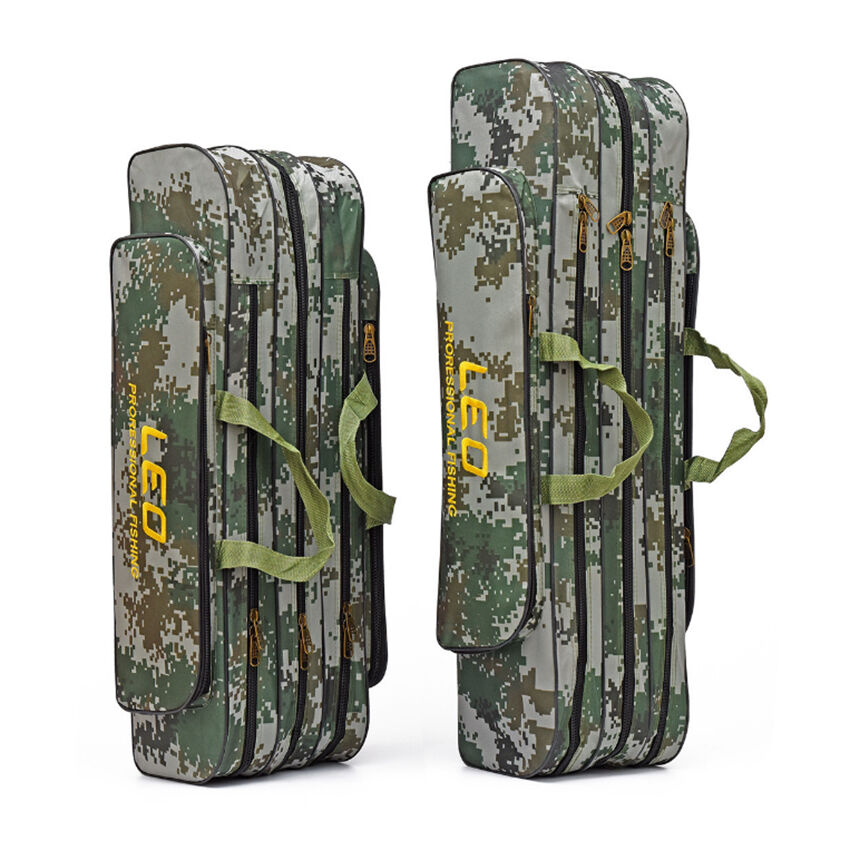 Fishing rod bag case organizer tackle camouflage 3 for Fishing rod case carrier storage bag