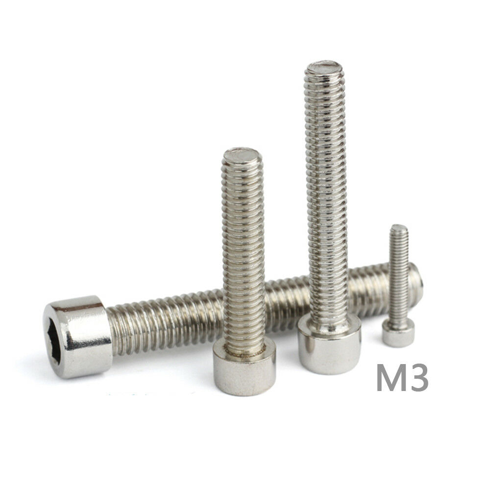 M3 Stainless Steel Metric Full Thread Allen Hex Socket Cap