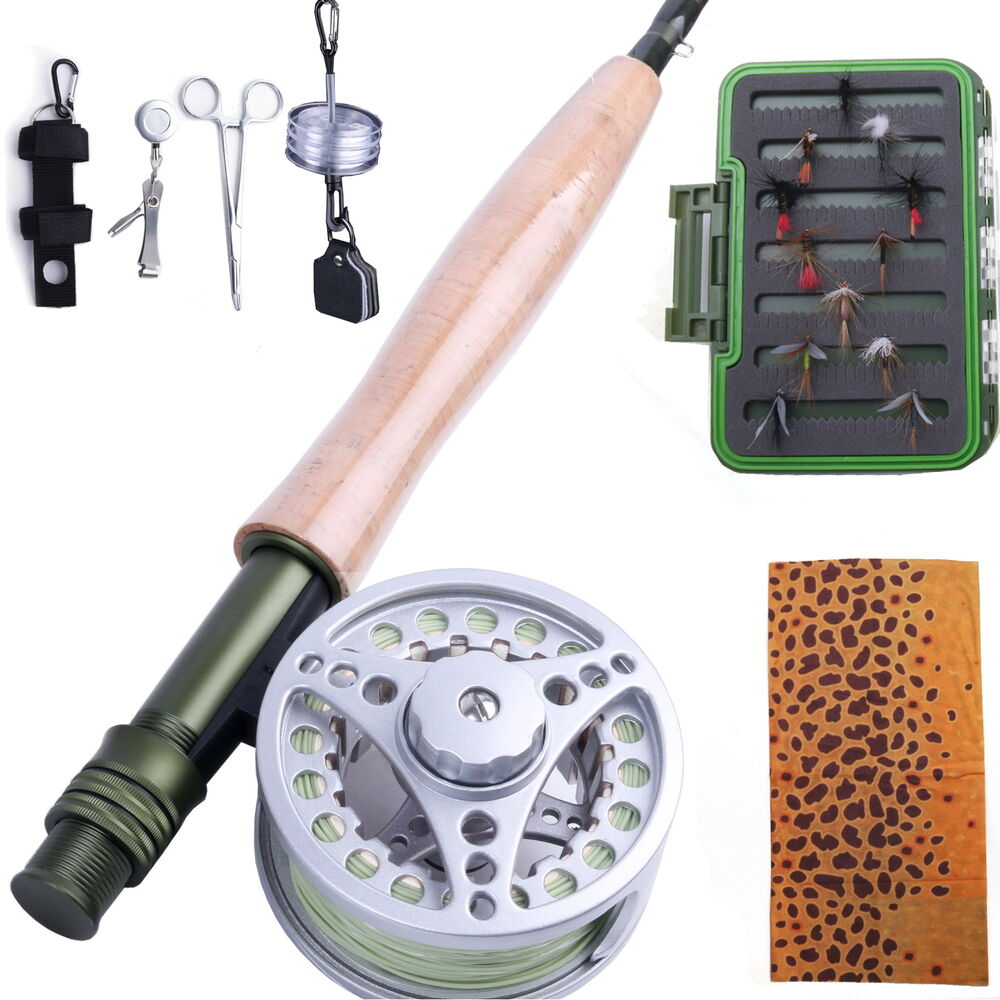 5wt fly rod and reel combo fly line fly fishing tool for Fly fishing rod and reel combo