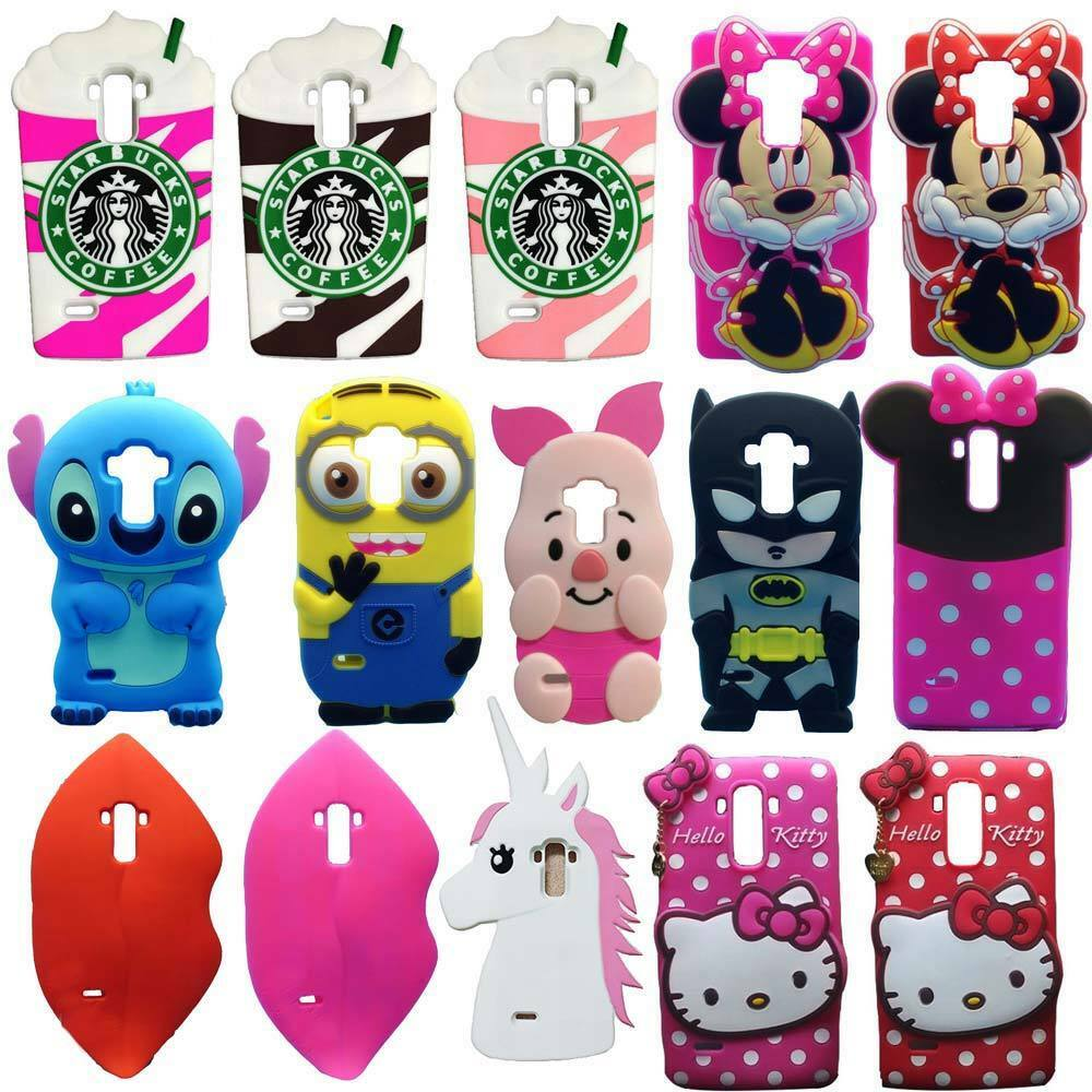 3D Cute Cartoon Soft Silicone Back Cover Case For LG G2 G3 G4 G4 ...