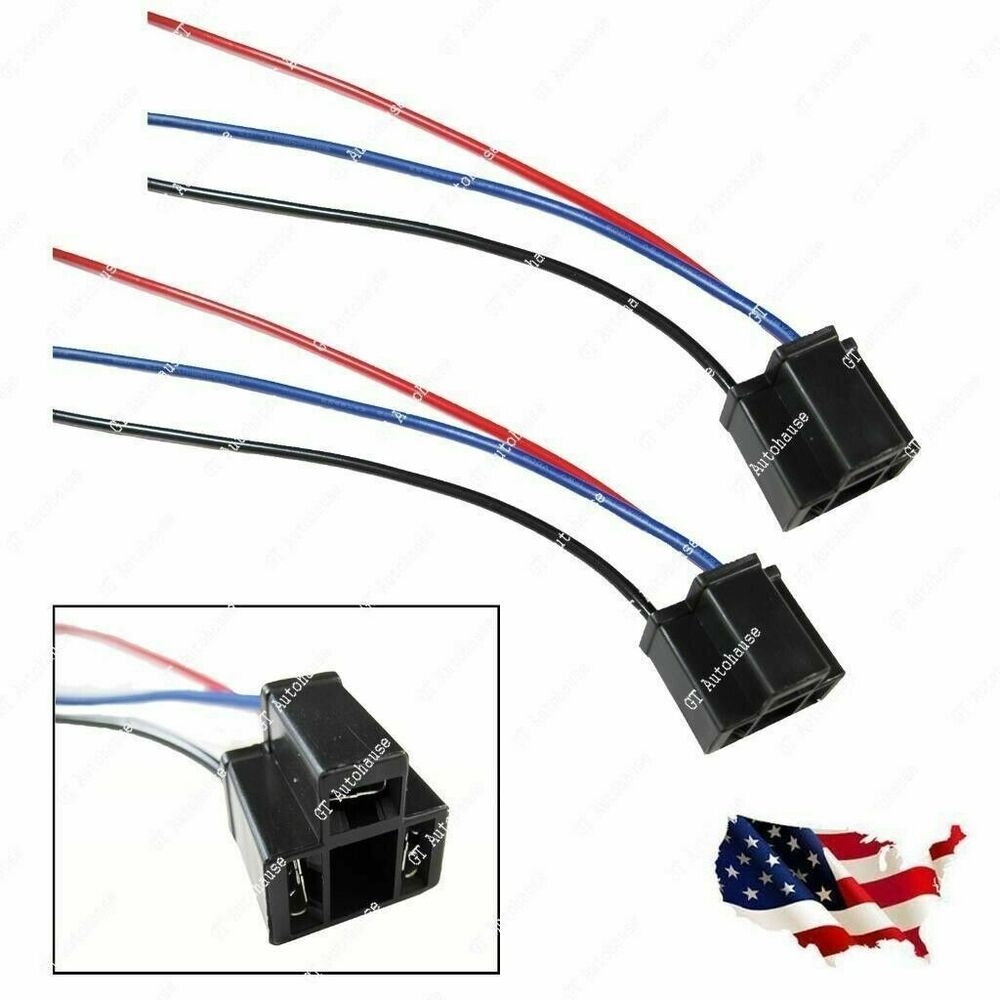 2pcs h4 9003 hb2 female headlight repair wiring socket Simple Headlight Relay Wiring