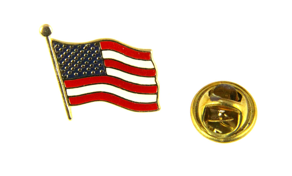 6030468 United States American Flag Lapel Pin US Made in USA Red White ...