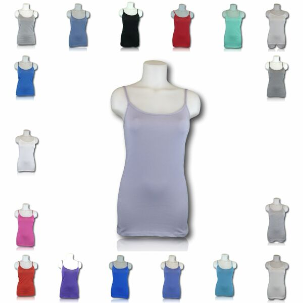 Ex M&S Marks And Spencer Stretchy 95% Cotton Strappy Camisole Top Layering