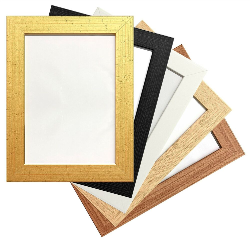 wood wooden picture poster photo frames 5 various colours. Black Bedroom Furniture Sets. Home Design Ideas