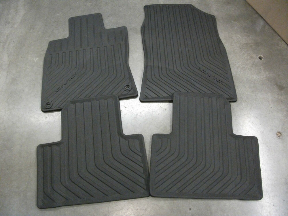 16 honda civic sedan all weather floor mat set oem 08p17 for 100 floor 16