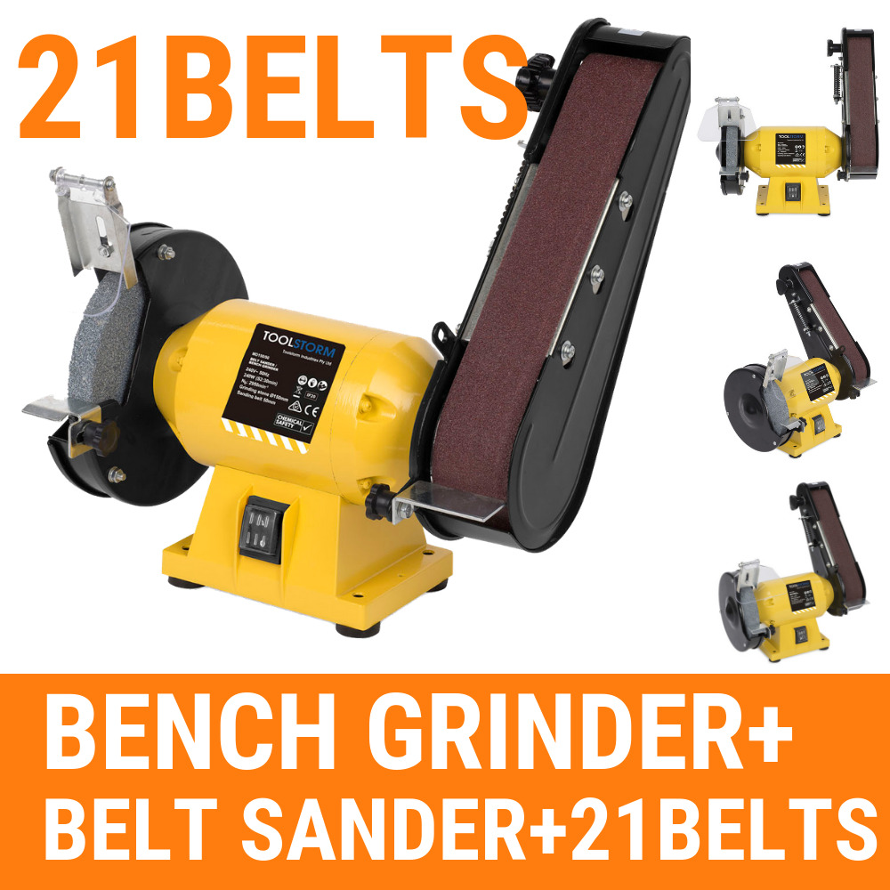 Free 21 Belts 150mm Bench Grinder Linisher Sanding