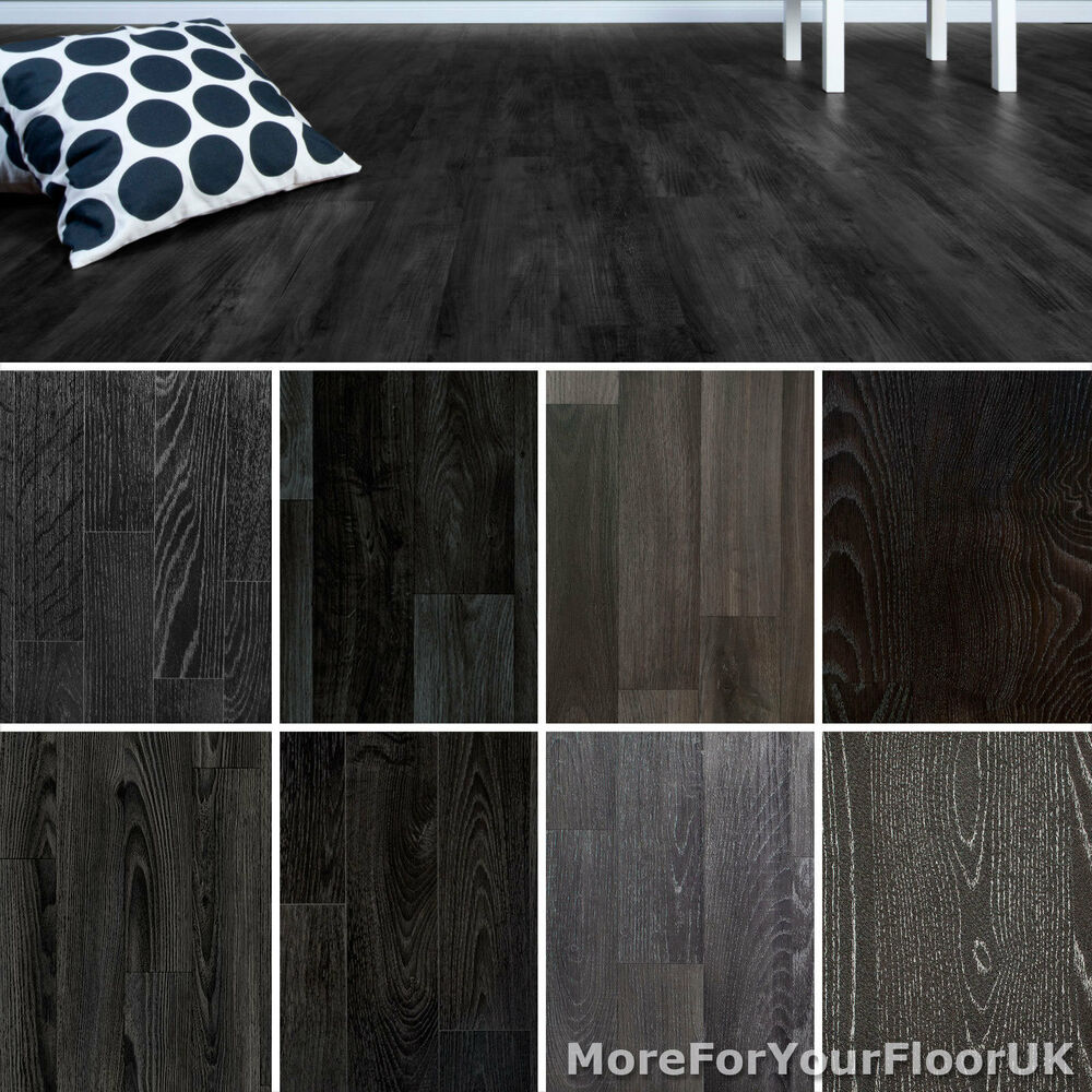 Black Vinyl Kitchen Flooring
