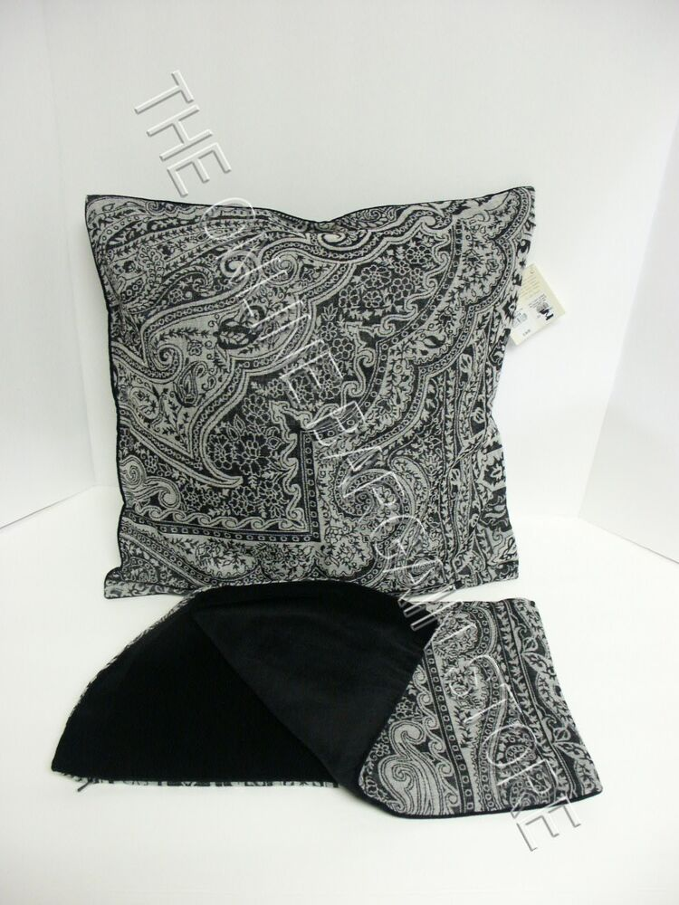 Pottery Barn Jacquard Paisley Velvet Sofa Pillow Cover