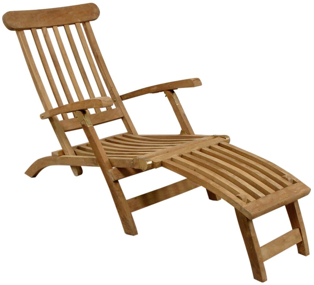deckchair gartenliege liegestuhl holzliege aus teakholz. Black Bedroom Furniture Sets. Home Design Ideas