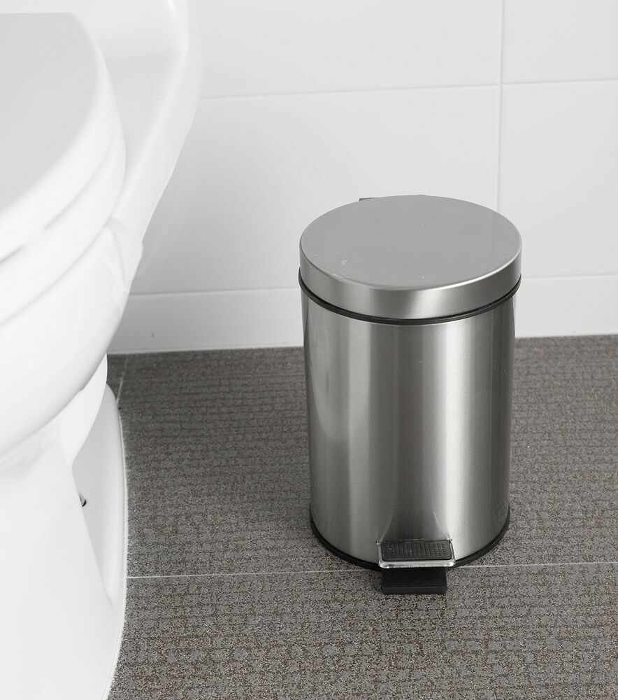 Step trash can waste litter garbage kitchen storage basket for Waste baskets for bathroom