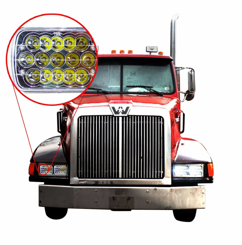 Commercial Vehicle Lighting: 2x LED Headlights For Western Star 4900 Semi Truck