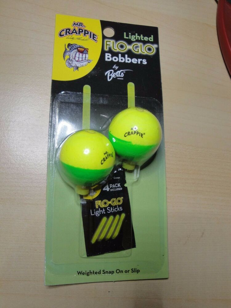Mr crappie lighted flo glo bobbers ebay for Light up fishing bobbers