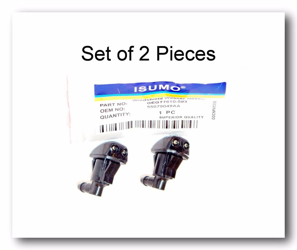 Set Of 2 Windshield Washer Nozzle Front Ford Edge Focus