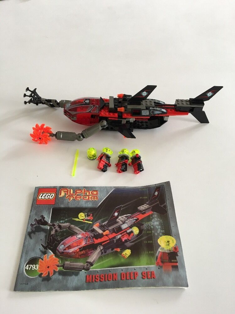 Lego Alpha Team Set 4793 Mission Deep Sea With Instructions Ebay