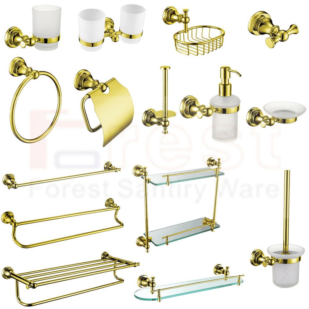 Gold bathroom accessory towel rail rack bar paper tissue for Rack for bathroom accessories