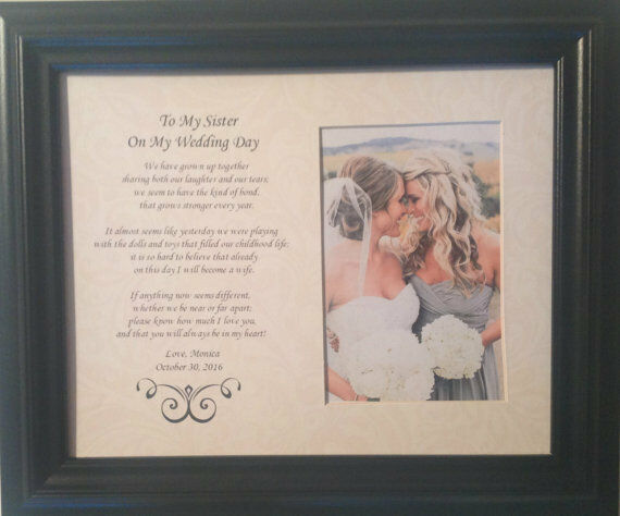 Wedding Gifts For Sisters: Wedding To My Sister On My Wedding Day Personalized Custom