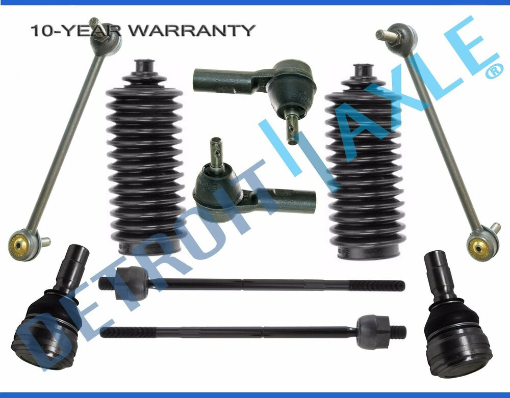 New 10pc Front Suspension Ball Joint Tie Rod Sway Bar Kit For 2005 2009 Mustang Ebay