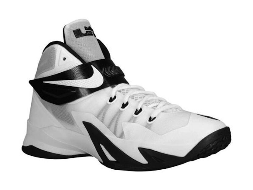 712b11e34d5c Details about NIKE LEBRON ZOOM SOLDIER VIII 653648-100 White Black  Basketball Shoes 16.5 NEW