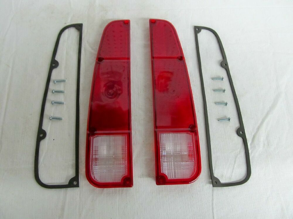 Jeep Tail Light Lenses : Jeep j truck tail light lens kit both sides with