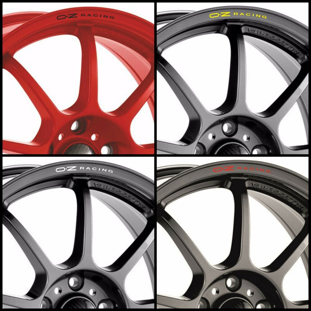X8 Oz Racing Rims Alloy Wheel Curved Decals Stickers Audi Bmw Mercedes Vw Honda Ebay