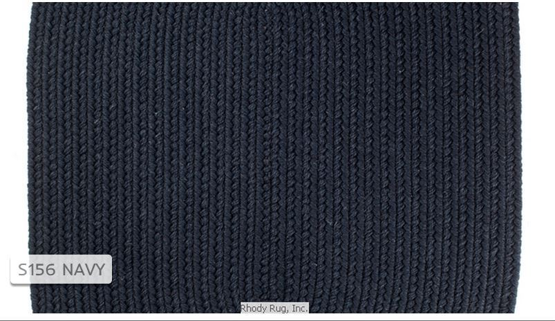 Solid Navy Blue 100 Wool New England Country Home Braided