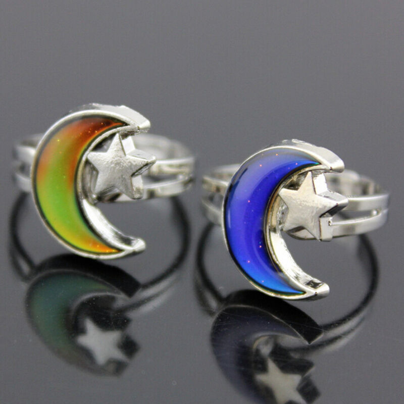 Kids Adult Magic Temperature Emotion Feeling Mood Ring Bandcolor