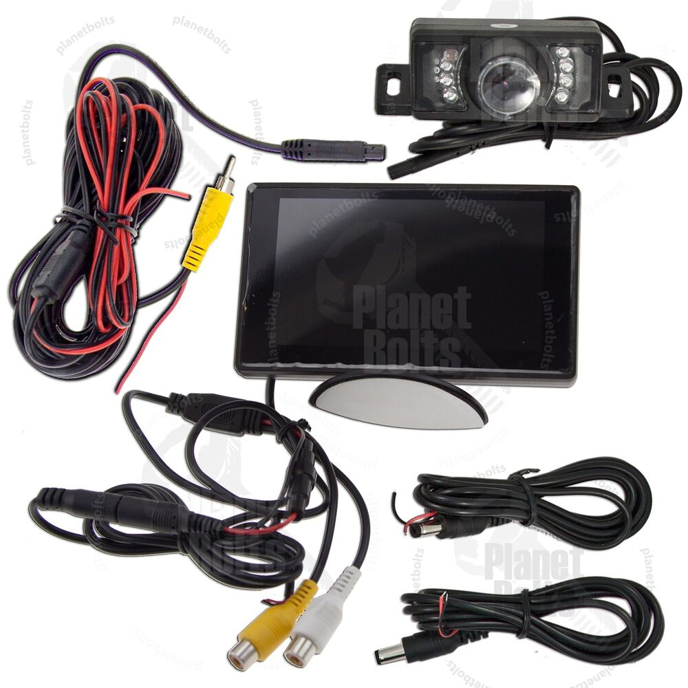 motorbike motorcycle rear view camera system kit 4 3. Black Bedroom Furniture Sets. Home Design Ideas
