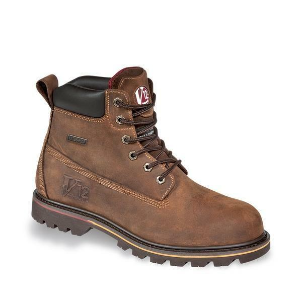 mens non safety leather waterproof lace up boots ankle