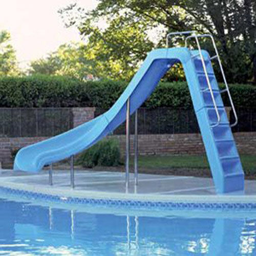 Interfab wild ride inground swimming pool water flume slide left turn wrs clb ss ebay for Swimming pool water slide parts