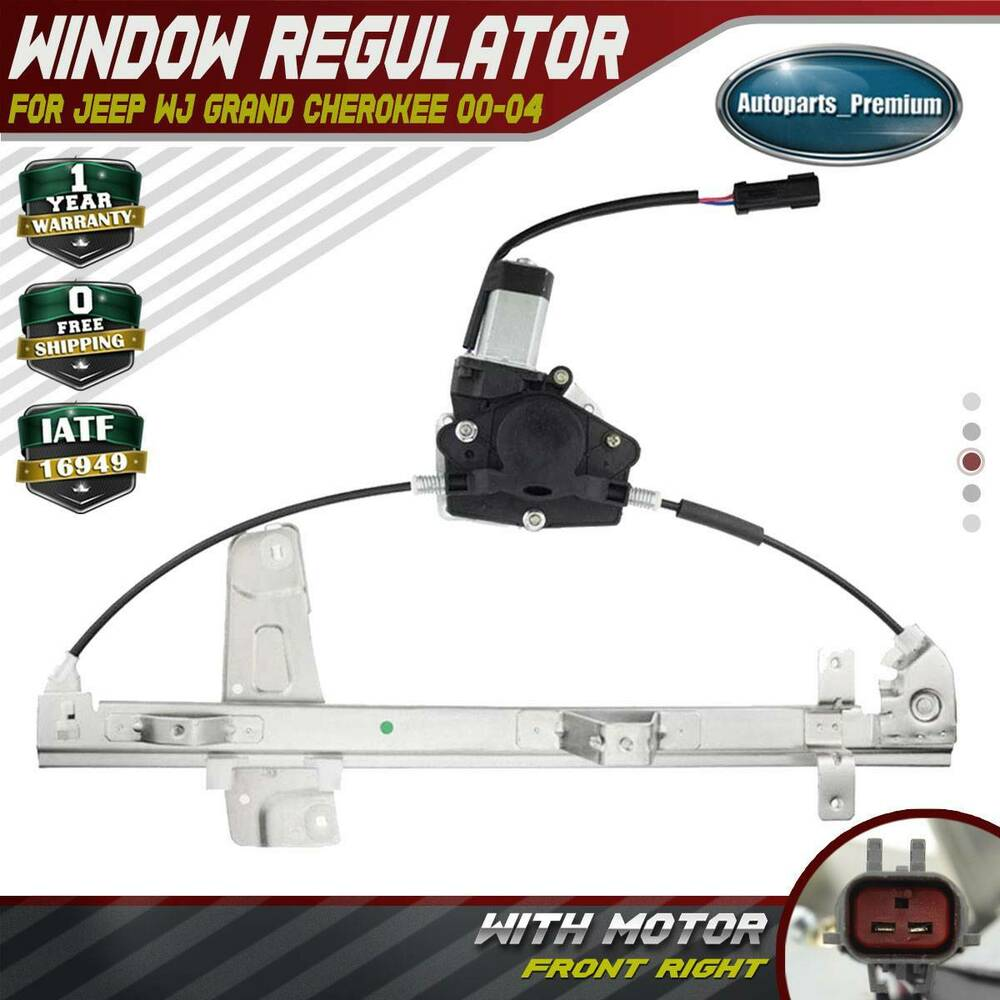 Power window regulator with motor for jeep grand cherokee for 2002 grand cherokee window regulator replacement