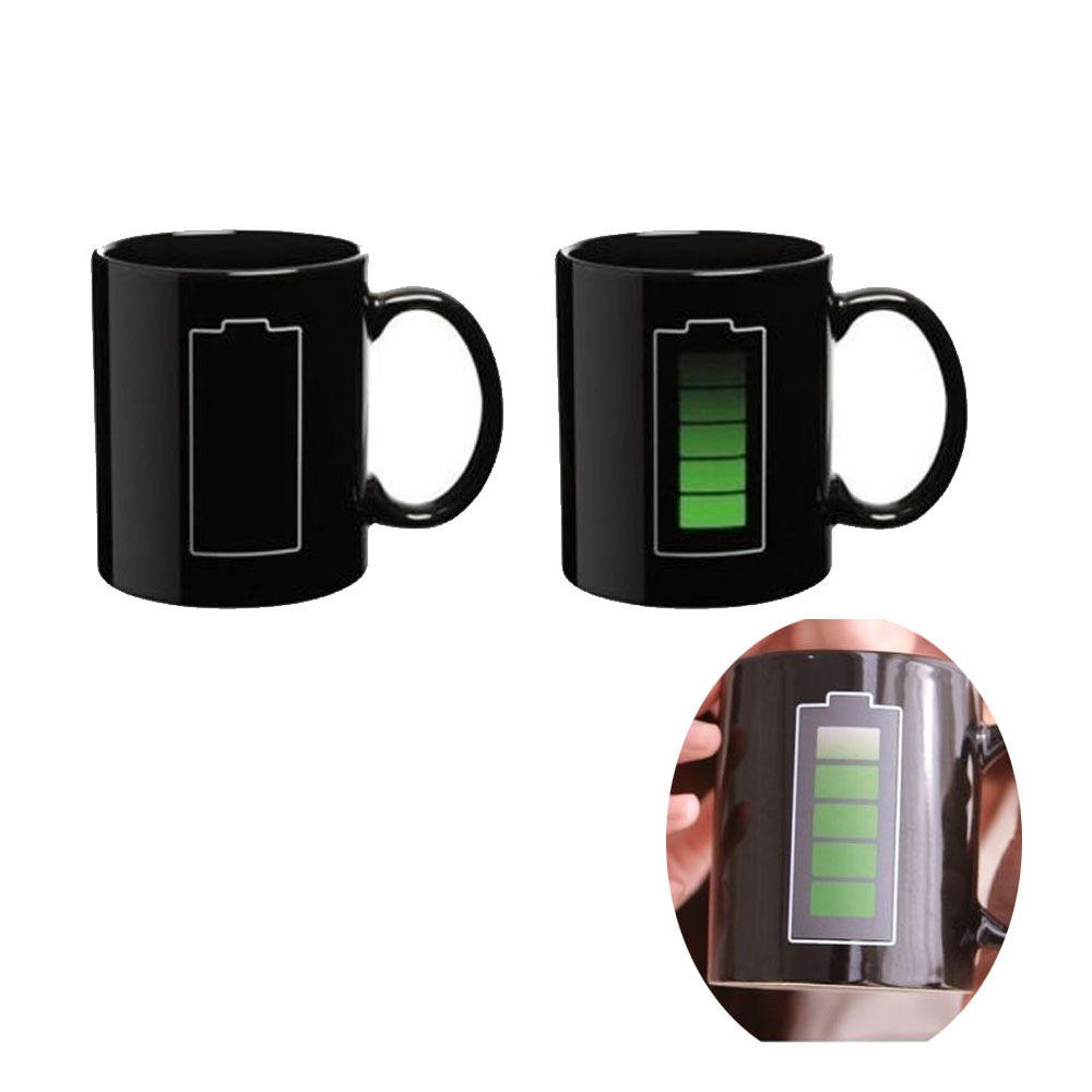 hot cold heat sensitive color changing mug cup ceramic battery mug coffee tea ebay. Black Bedroom Furniture Sets. Home Design Ideas