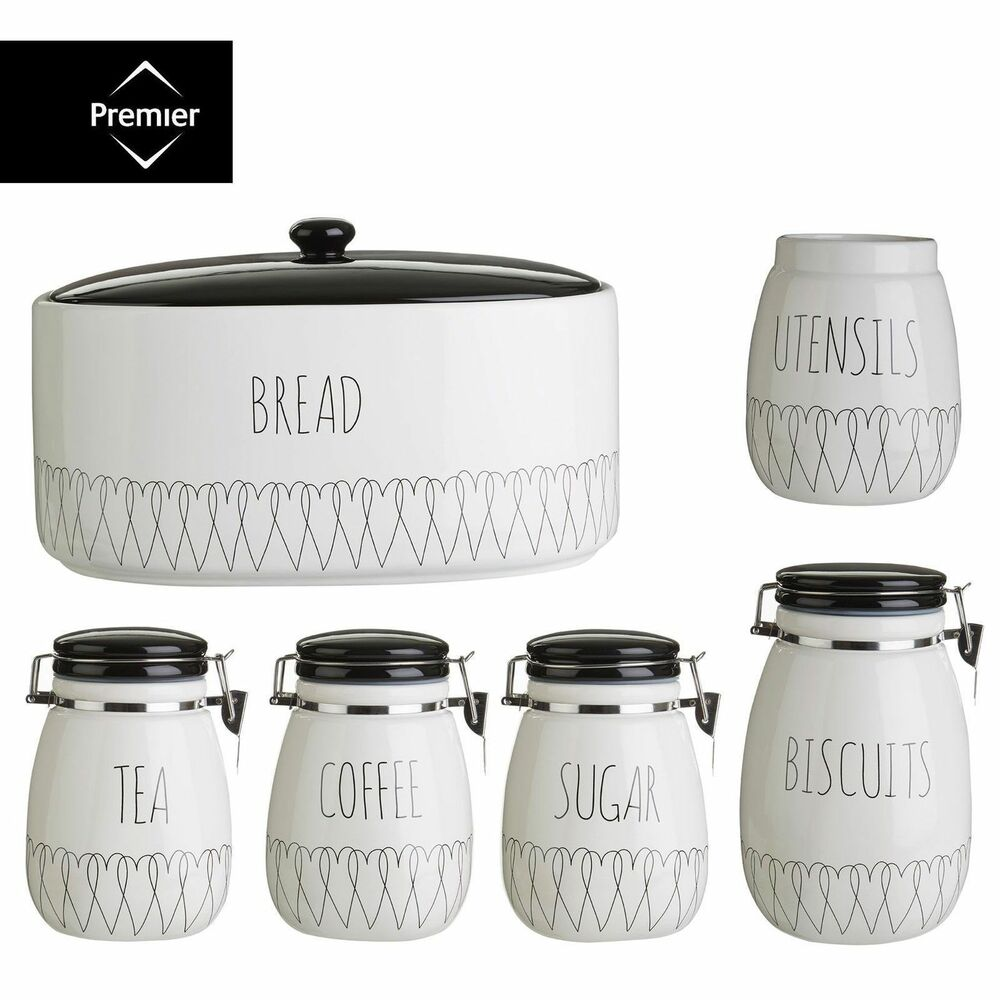 Ebay White Kitchen Canisters