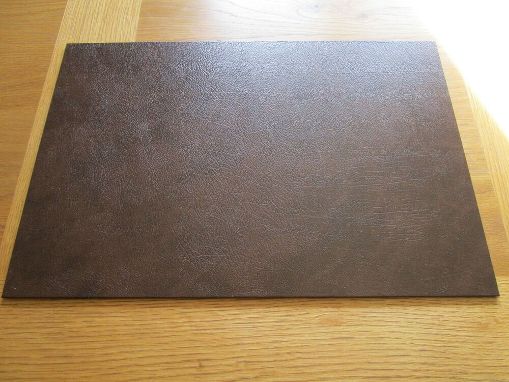 Recycled Leather Desk Mats Placemats 45 X 30cm Various