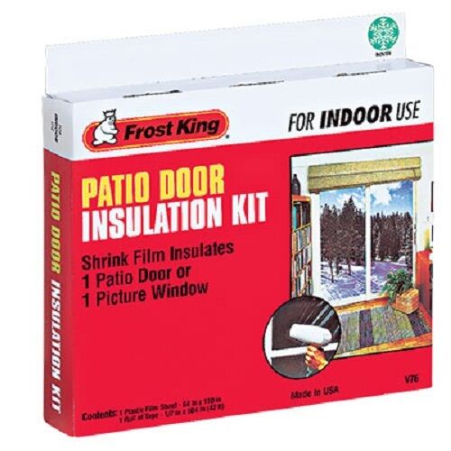 12 thermwell v76h frost king 84 x 110 patio door shrink for Window insulation kit