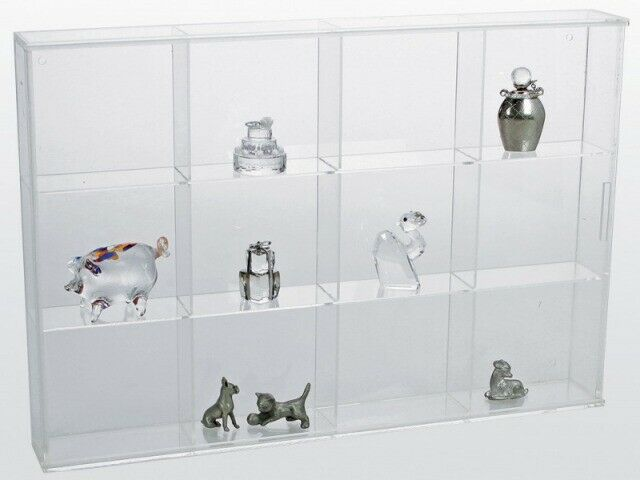 Display Shelves For Collectibles >> Miniature Figurine Display Case - Large | eBay