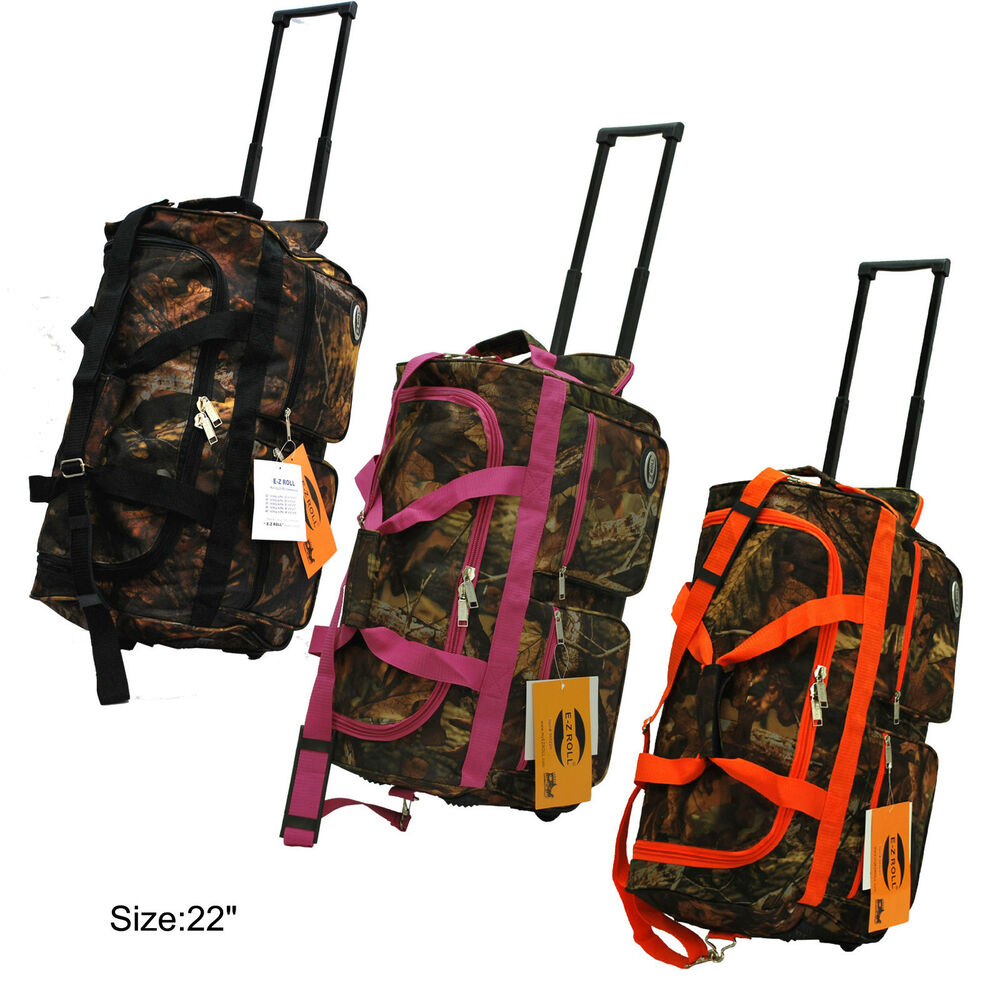 0924de7a3a Details about Real Tree Camo Hunting Rolling Duffle Bag in 22