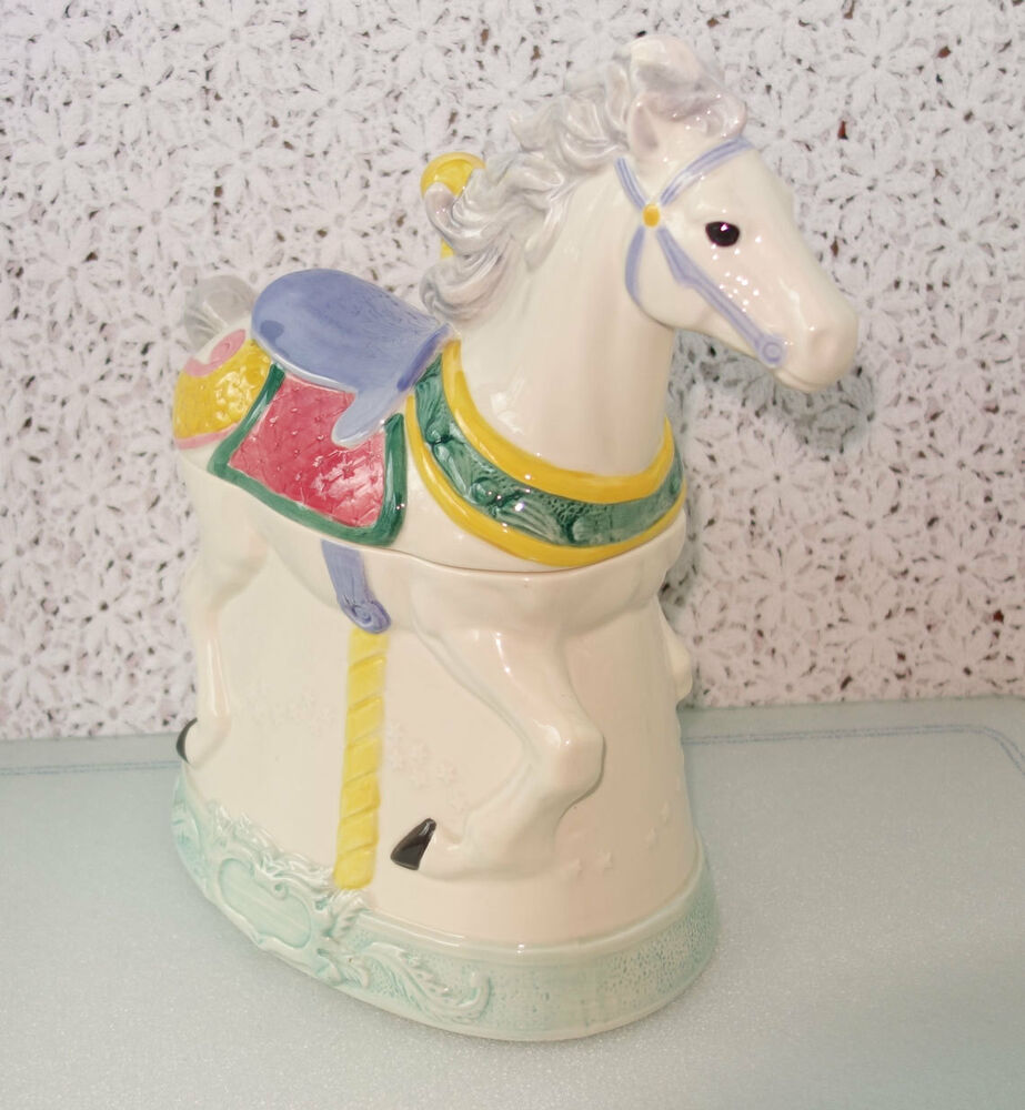 1991 Hearth And Home Designs Carousel Horse Cookie Jar