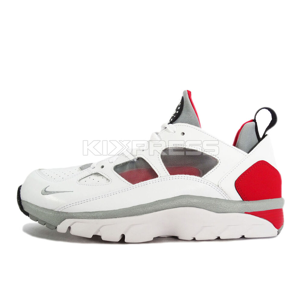 nike air trainer huarache low 749447 102 nsw training white grey red black ebay. Black Bedroom Furniture Sets. Home Design Ideas