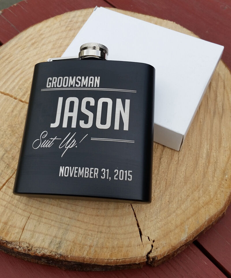 Groomsmen Wedding Gift: Personalized Flask, Best Man Groomsmen Bridesmaid Gifts