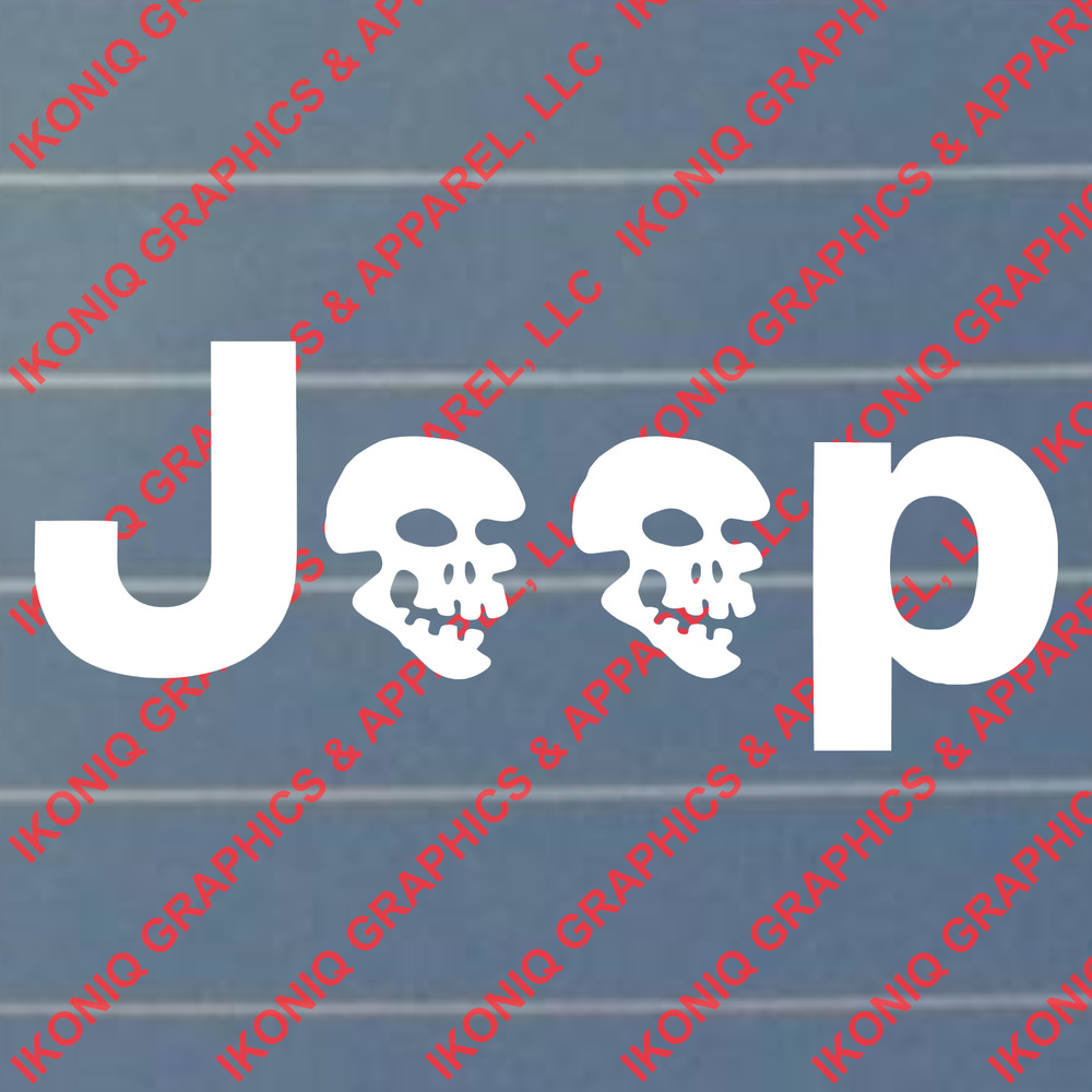 Jeep With Skulls Decal Cj Tj Off Road Country Sticker