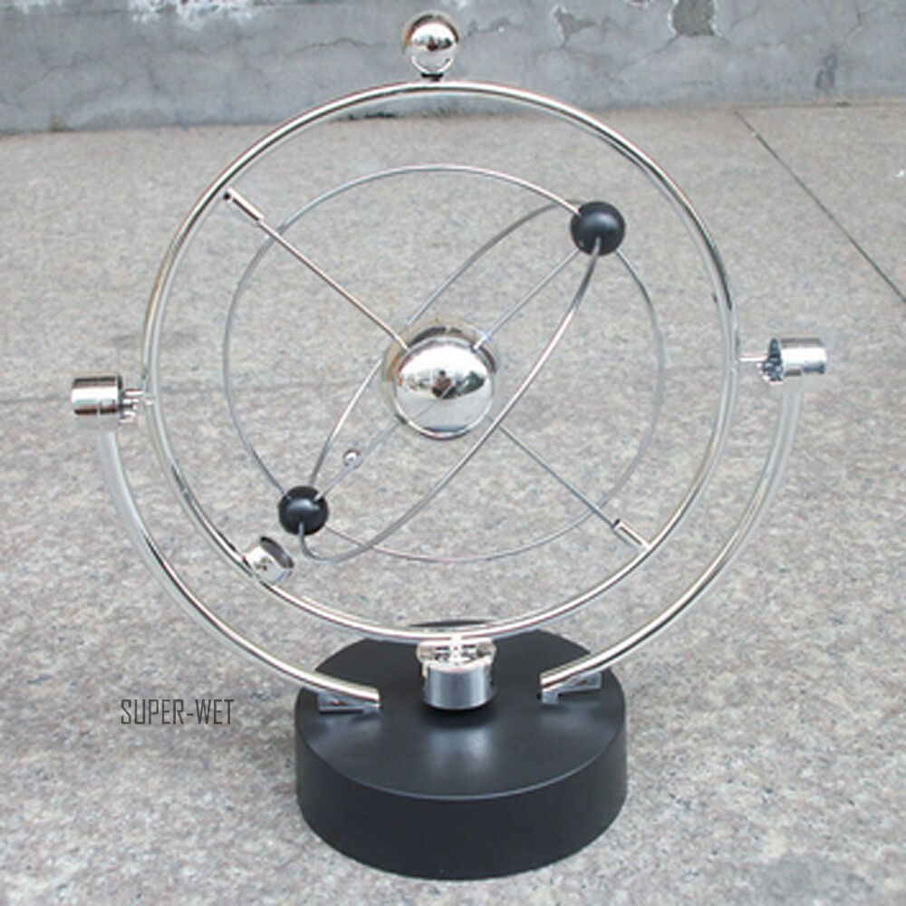 Magnetic globe pendulum perpetual motion kinetic balance for Pendulum light globes